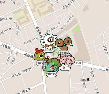 pokemon go地圖