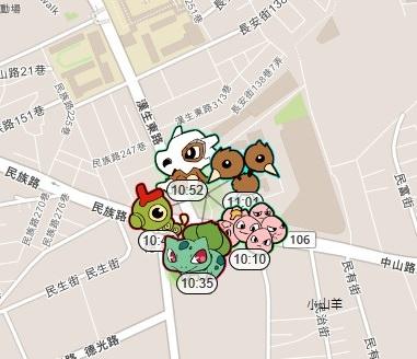 pokemon go地圖
