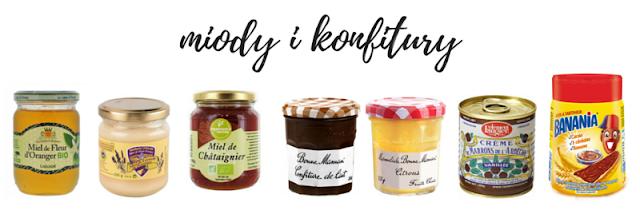 miody francuskie, miód lawendowy, miód z kasztanowca, krem z kasztanów, konfitury francuskie