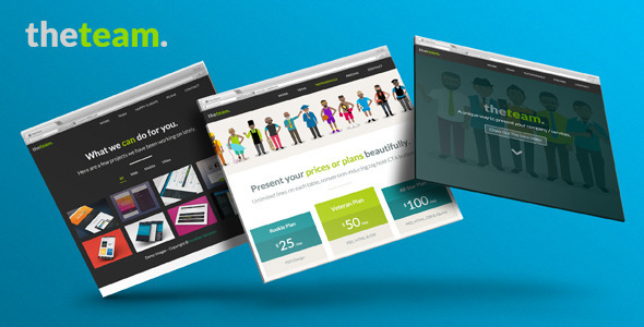 Download The Team One Page Flat UI Pro Marketing Template
