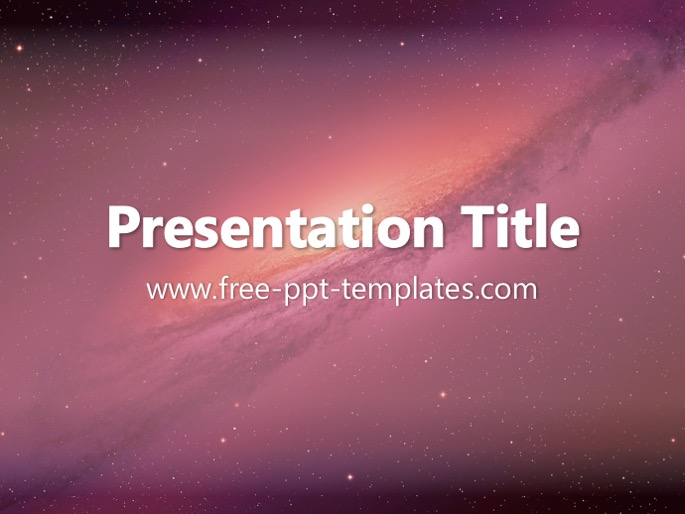 space ppt template, Powerpoint templates