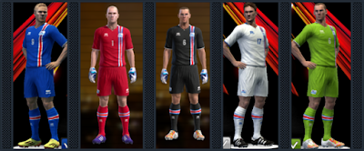 PES 2013 Iceland national football team EURO 2016 Kits by Radymir