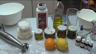 Ingredientes del jabón de cítricos