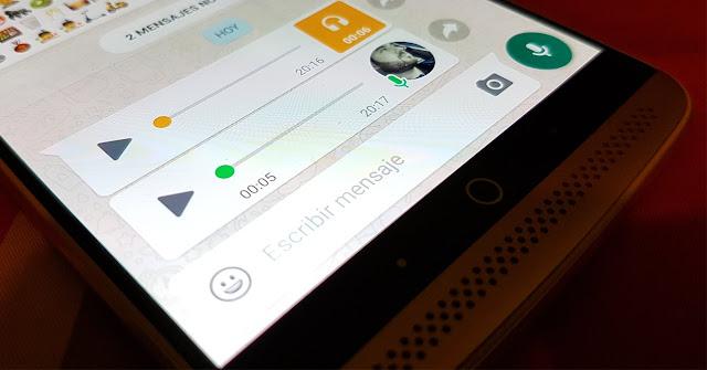 WhatsApp de voz a texto