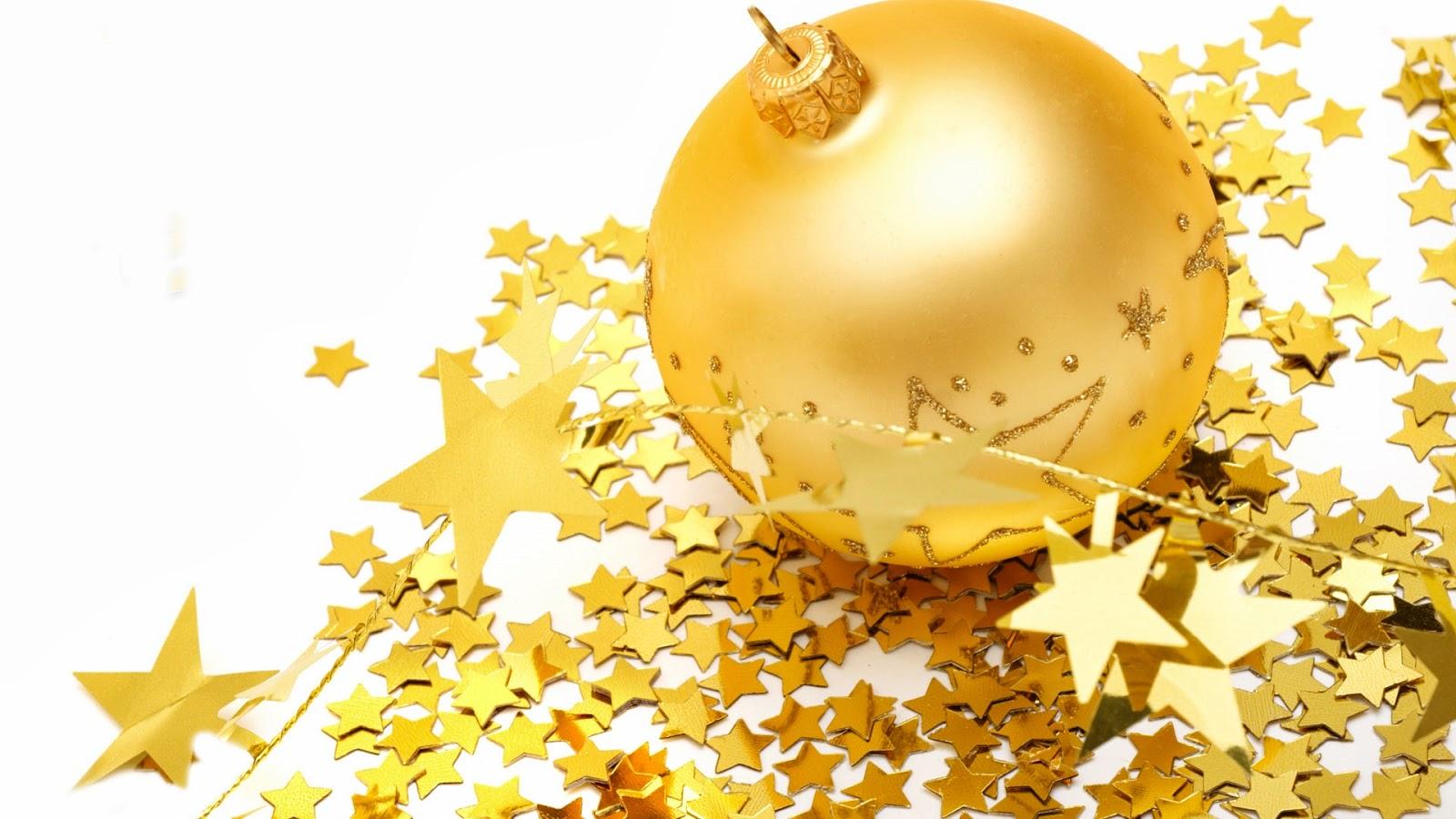Imagenes hilandy fondo de pantalla navidad bolas y - Bolas de navidad doradas ...