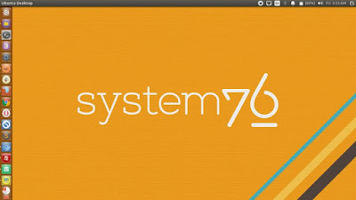 System76 Logo Yellow Background