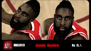 NBA 2K13 James Harden Patch Rockets