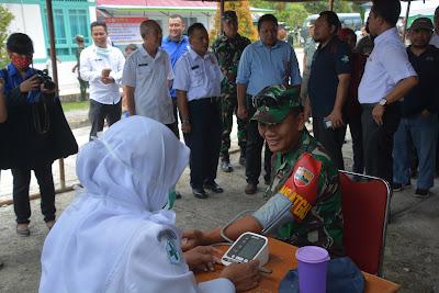 Baksos TMMD Mentawai, Ratusan Warga Padati lapangan Rumkit Daerah Kep Mentawai