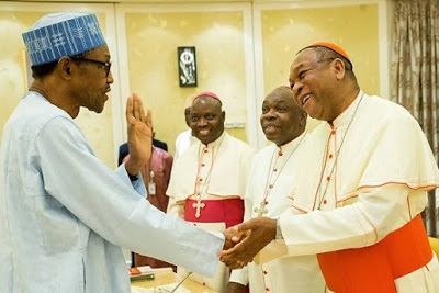 Photos nigerian catholic bishops bow to greet buhari during visit nigerian catholic bishops bow to greet buhari during m4hsunfo