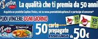 Logo Findus ''Premiati dal Capitano'': vinci 800 Card Esselunga da 50€