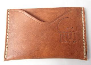 Porte carte en cuir avec logo