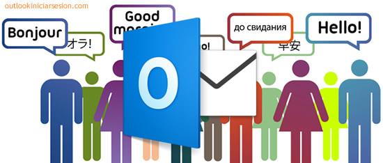 el idioma de tu cuenta de Outlook