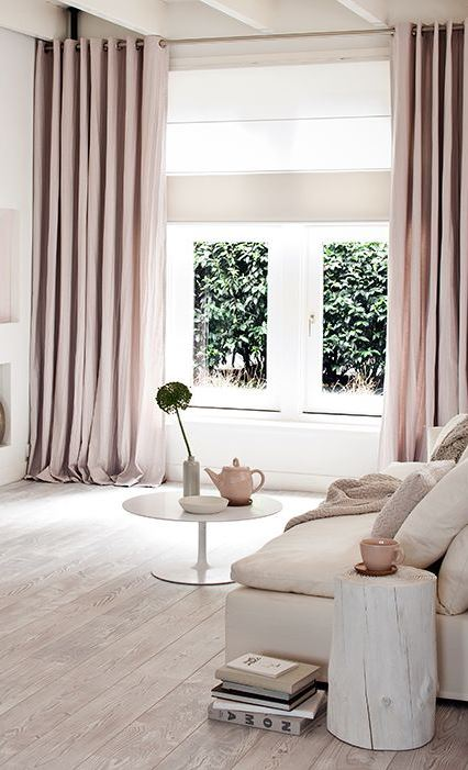 pastel living room decor idea