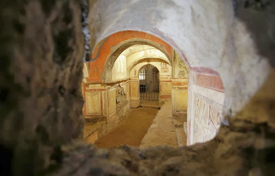 Visit the Vatican's ancient catacombs with Google Maps tour ... on map of turkey, map of europe, map of italy, map of croatia, map of monaco, map of sistine chapel, map of san marino, map of slovenia, map of liechtenstein, map of yugoslavia, map of venice, map of florence, map of france, map of malta, map of montenegro, map of kenya, map of rome, map of switzerland, map of macedonia, map of lesotho,