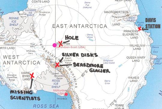 Los lugares indicados por el ingeniero de vuelo Naval de Estados Unidos (Ret)