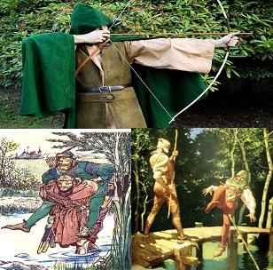 Robin Hood történet jelenetek