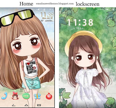 Download Girl Anime Theme For EMUI 5.0 8.0 themes hwt