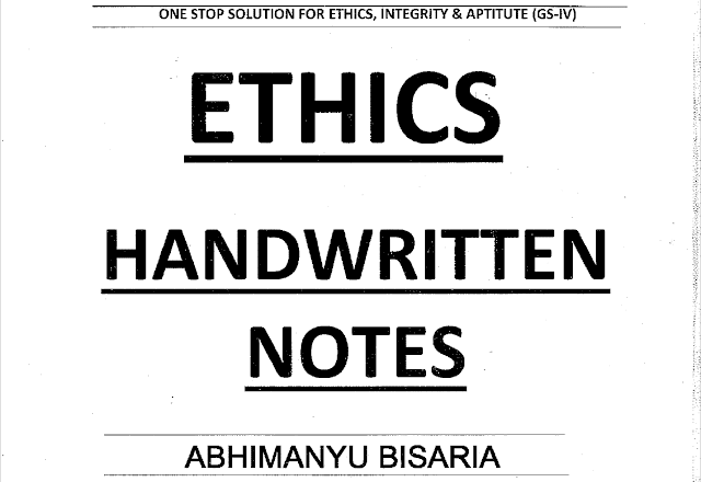 Ethixified Ethics Handwritten notes pdf