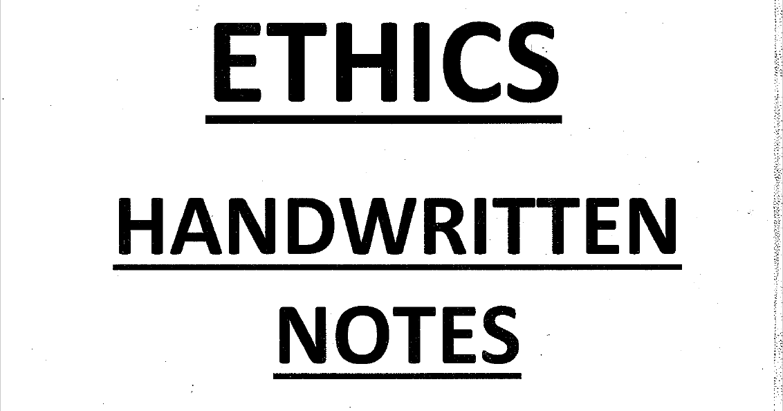 Ethixified Ethics Handwritten notes pdf for IAS Mains GS