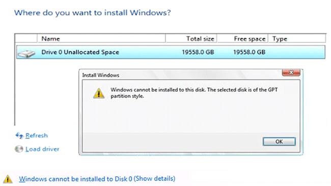 Cara Mengatasi Tidak Bisa Install Windows karena Masalah Partisi MBR atau GPT