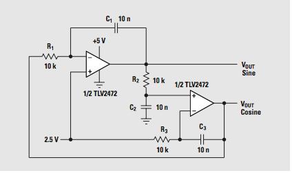 Shadi Soundation: LM324 Sine-Wave oscillator! (Quadrature oscillator)