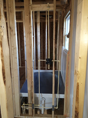 ryan homes shower plumbing