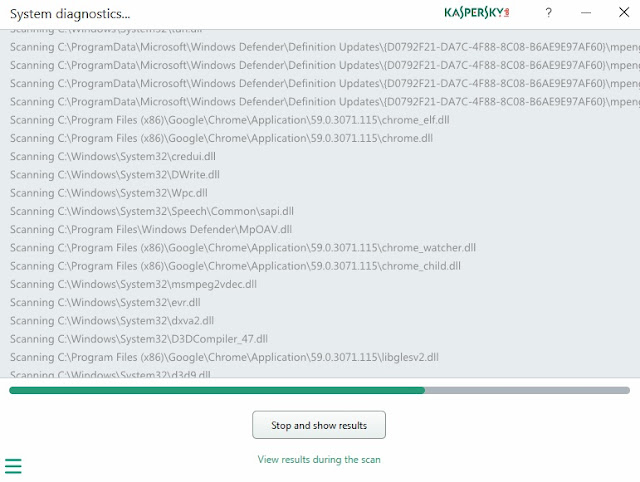 Kaspersky Diagnostics Scan