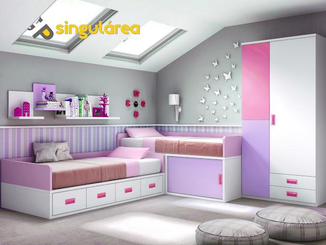 Dormitorio juvenil fm1306 - Habitaciones infantiles 2 camas ...
