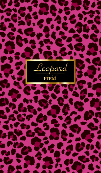 Leopard pattern vivid pink WV