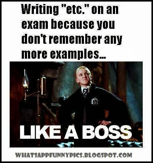 Writing Etc On An Exam Sheet Like A Boss Funny Image