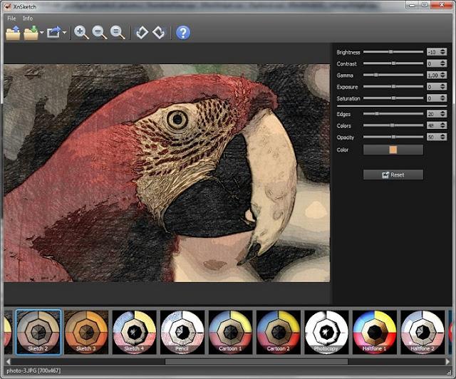 تحميل برنامج XnSketch لتحويل صورتك الي صورة كرتون مرسومة بالرصاص