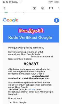 kode verifikasi sandi google