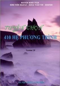 Tuyển chọn 410 Hệ phương trình Đại số