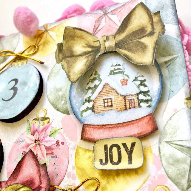Advent Calendar by Angela Tombari using BoBunny Carousel Christmas collection