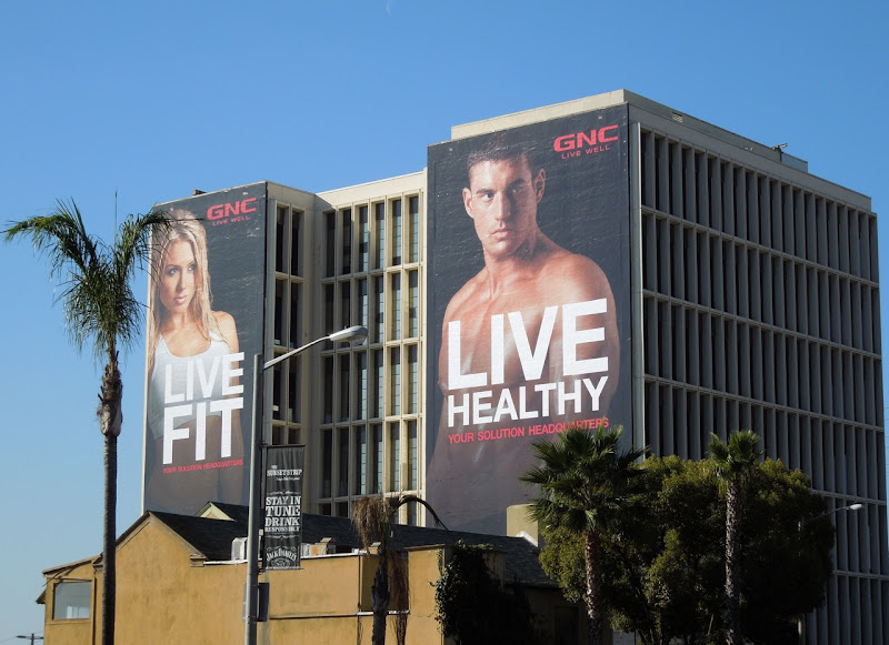 Live Fit Live Healthy GNC billboards