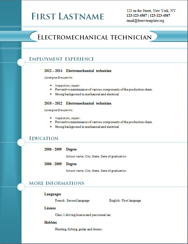 Free Downloadable Resume Template - Should You Really Be Using One - really free resume templates