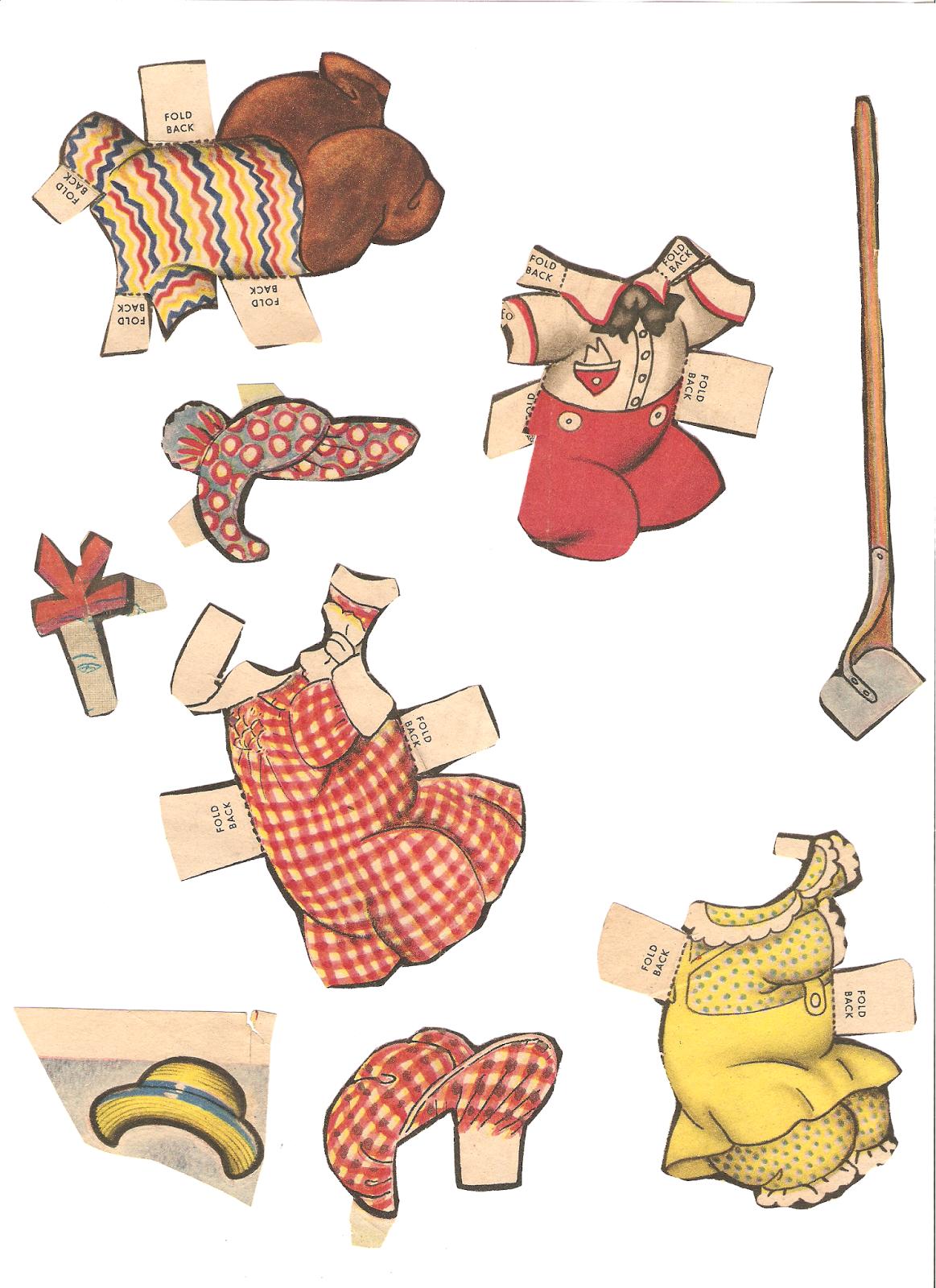 Miss Missy Paper Dolls: Bunny Boy newspaper doll