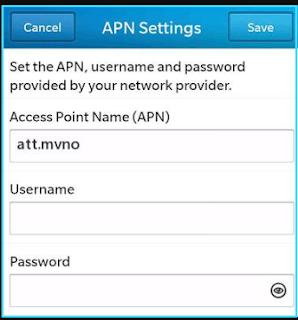 New H2O apn settings blackberry
