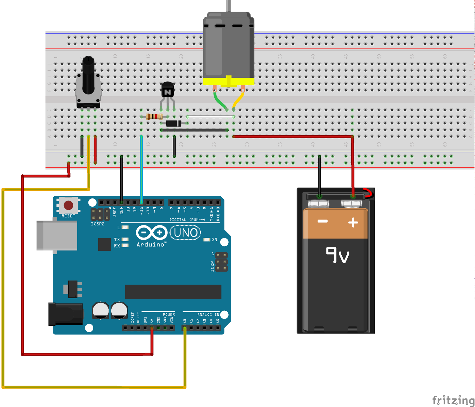Arduino Lcd Wiring Diagram Gcse Maths Sets Venn Diagrams Controlling Renewable Energy Systems: And Dc Motor With Transistor Diode