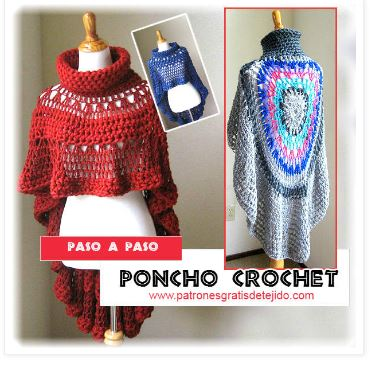como-tejer-poncho-redondo-crochet