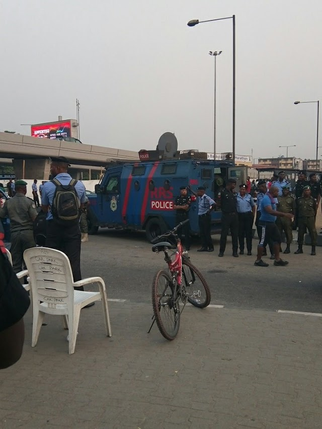 Police Held Strong as One Voice Protest Storms Lagos