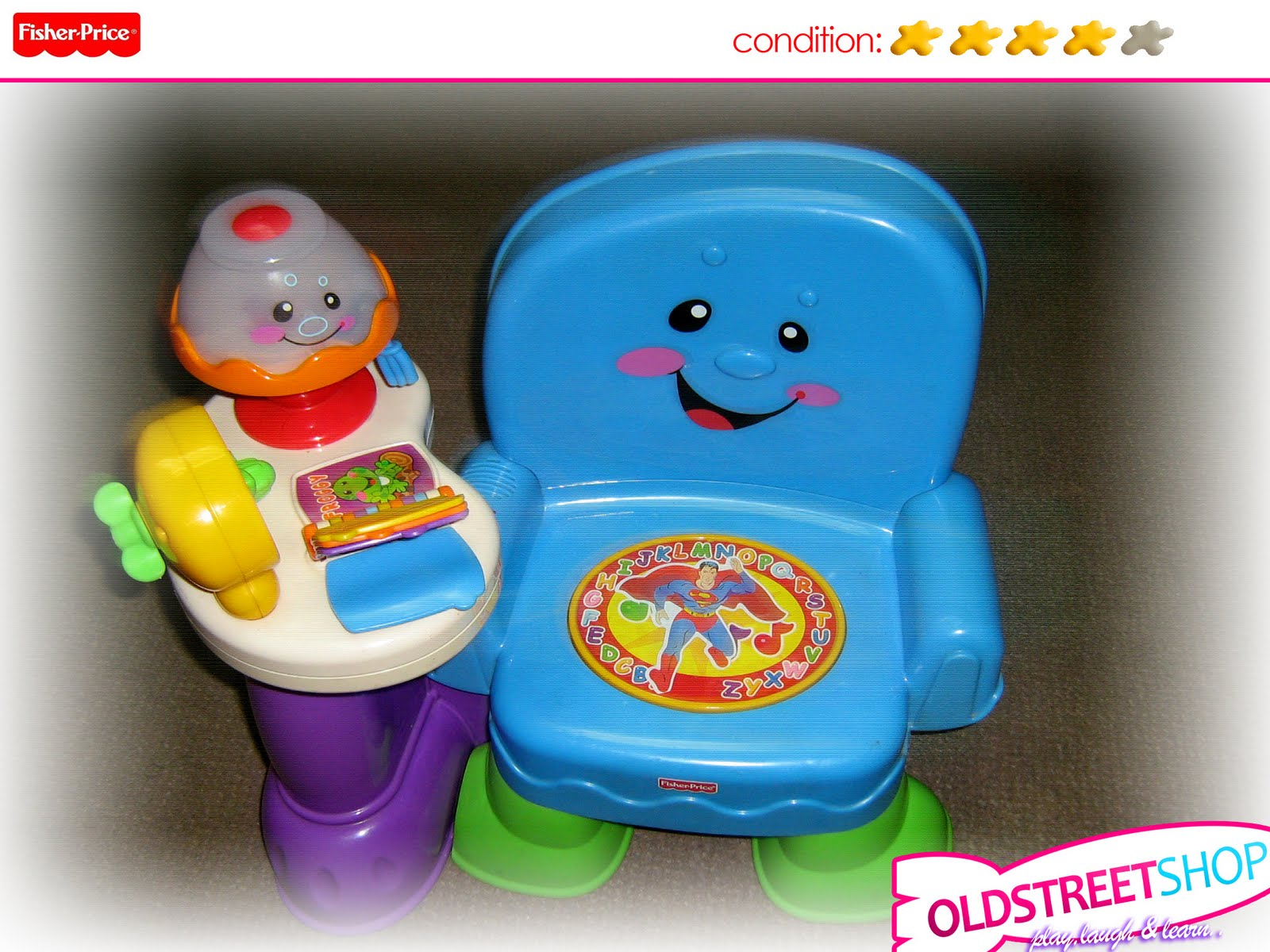 Fisher Price Sit And Play Chair Rattan Kitchen Chairs Oldstreetshop Laugh Learn Musical