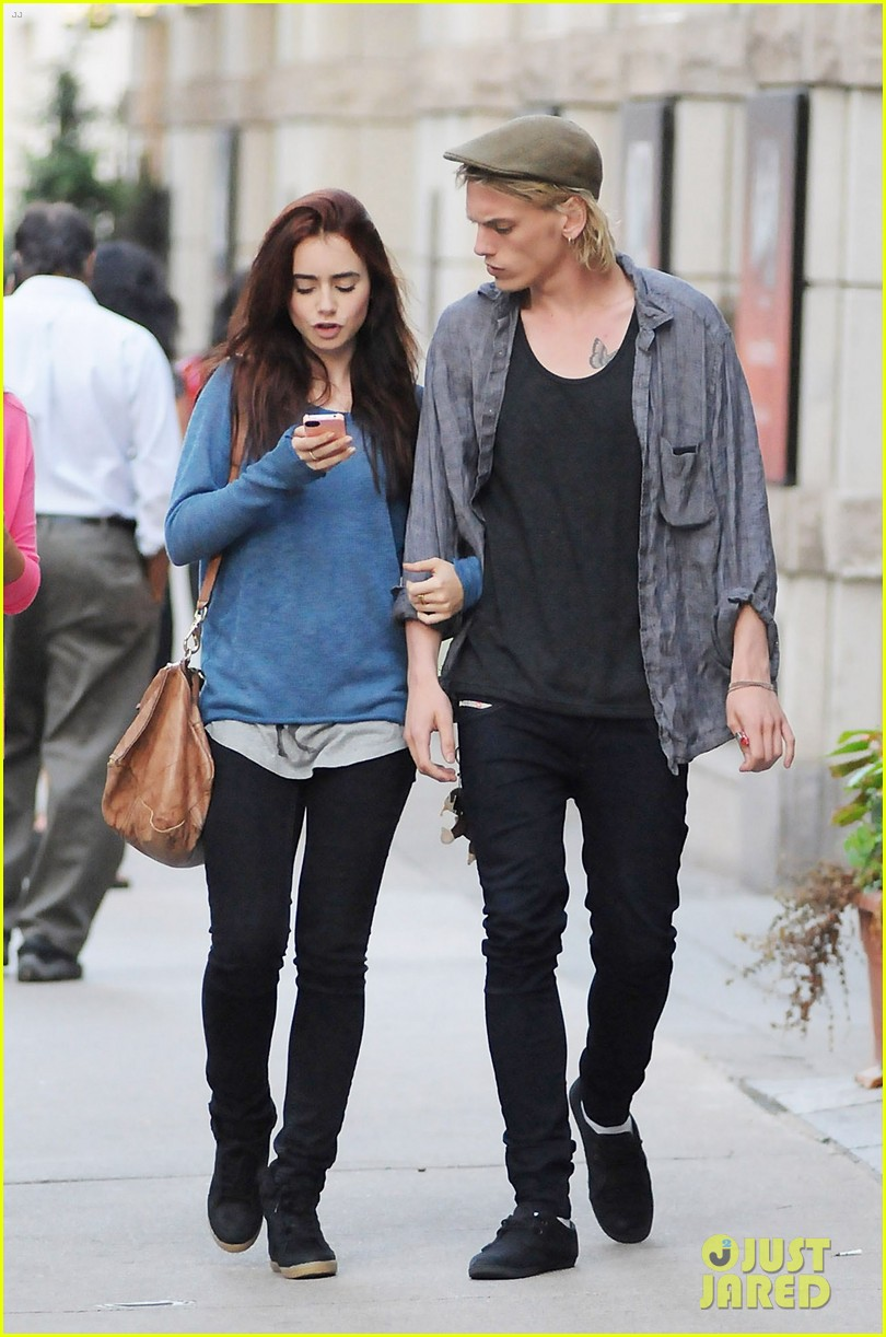 Fandomly Bookish First Look Red Hair For Lily Collins