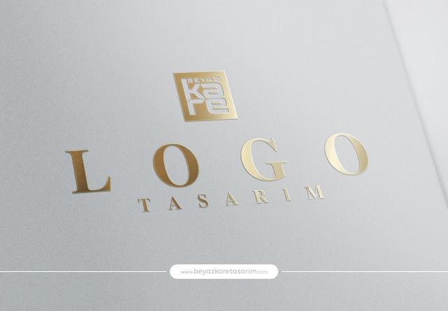 3D logo tasarımı kağıt kold delux