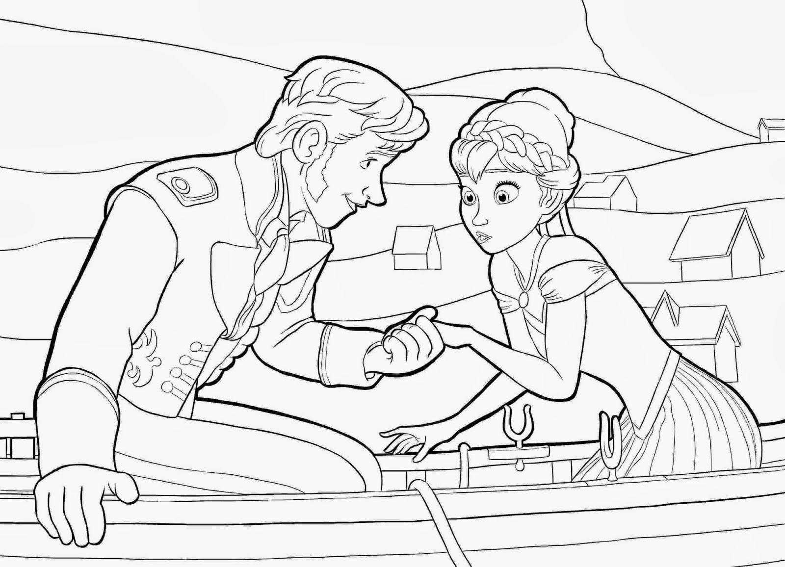 Disney movie princesses frozen printable coloring pages for Frozen coloring pages free