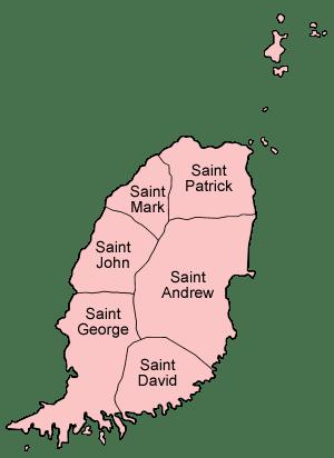 Pembagian wilayah administratif Grenada