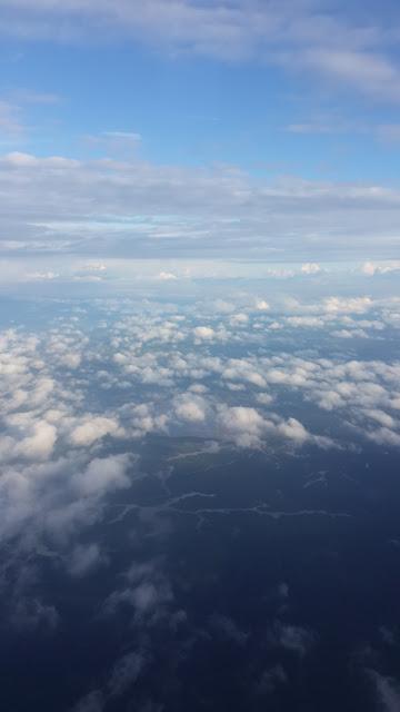 Danau Sentarum dilihat dari atas pesawat