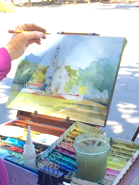 plein air painting St Marys college
