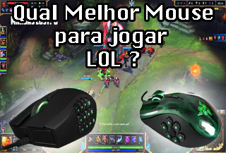 mouse gamer para jogar lol league o legends