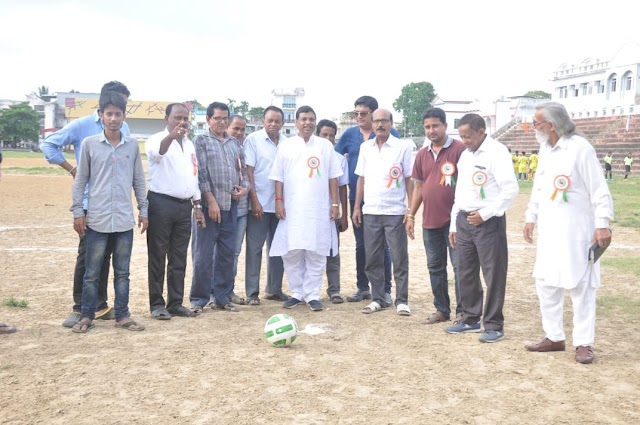 ত্রিপুরায় শুরু হলো সুখময় সেনগুপ্ত মেমোরিয়াল ফুটবল টুর্নামেন্ট